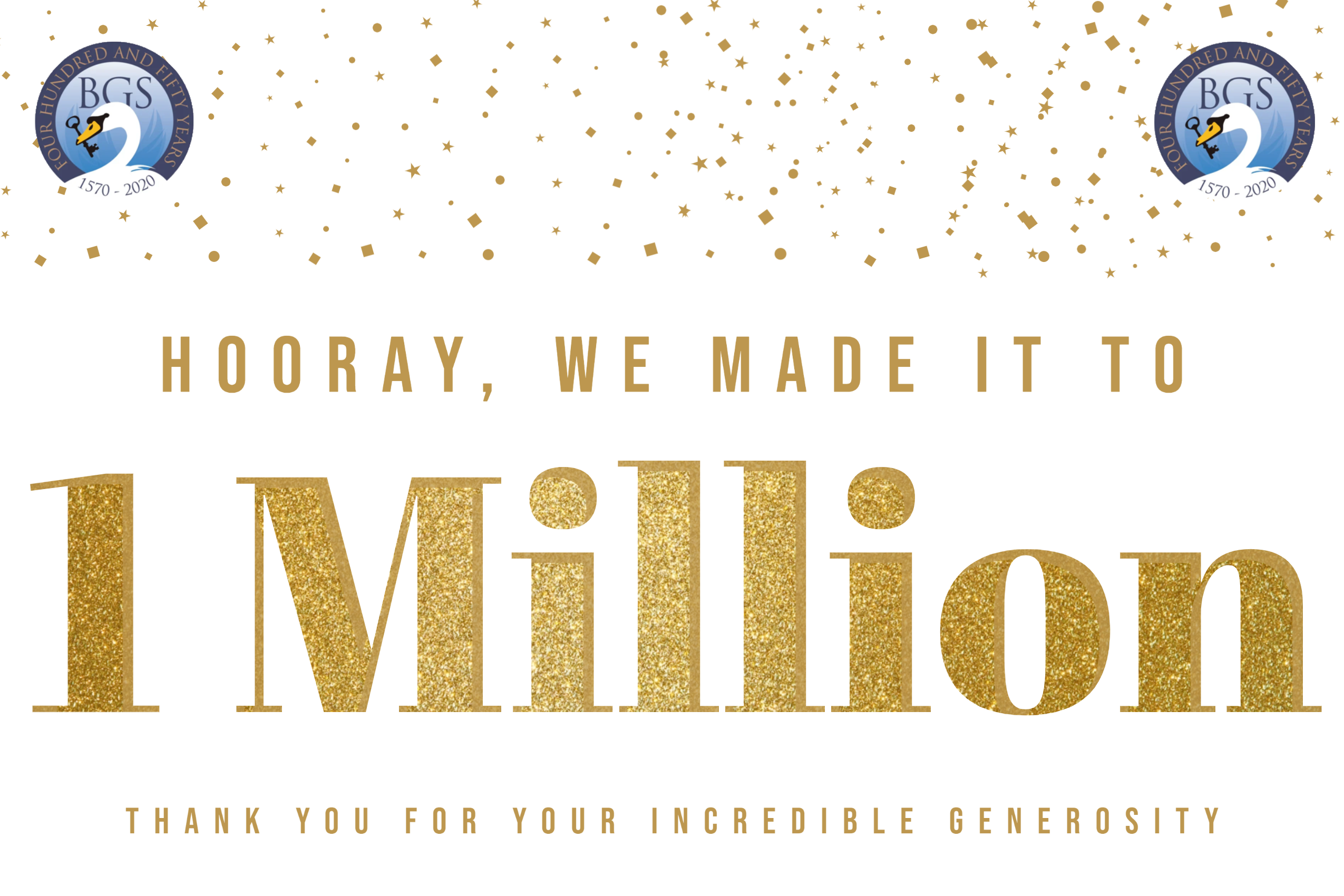 We made it to £1 million - thank you!